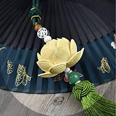 Diy Automobil-Anhänger Lotus segnen den Frieden hochgradige Stereo-Dekoration buxus sinica kontinuierliche Blatt grüne einzelne Quasten