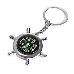 Ziqiao boot helm wiel kompas sleutelring nieuwigheid sleutelring ketting sleutelhanger zink legering cadeau