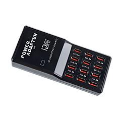 USB-laturi 12 porttia Työpöydän latausasema US-pistoke EU-pistoke UK-pistoke Latausadapteri