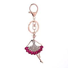 tanie Łańcuszki do kluczy-Łańcuszek do kluczy Biżuteria Fuchsia Kryształ górski Stop Spersonalizowane euroamerykańskiej Modny Damskie