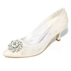 Feminino Sapatos De Casamento Plataforma Básica Primavera Verão Tule Casamento Festas & Noite Salto Agulha Preto Laranja Azul Rosa claro