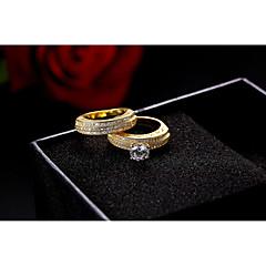 Kadın's Evlilik Yüzükleri Kübik Zirconia Eski Tip lüks mücevher Zarif Kübik Zirconia Circle Shape Mücevher Uyumluluk Düğün Parti Nişan