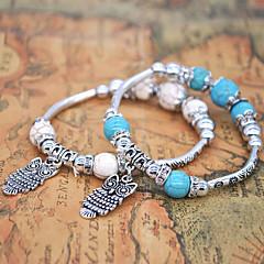 Women's Chain Bracelet Bracelet Strand Bracelet Basic Adorable Simple Style Turquoise Alloy Animal Shape Owl Jewelry For Wedding Party