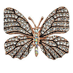 Dámské Brože imitace drahokamu Zvířecí Slitina Animal Shape Motýl Šperky Pro Párty Ležérní Večerní oslava Nový Rok