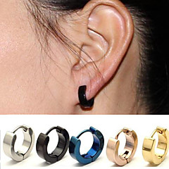Women's men's Earrings Jewelry Circular Surgical Steel Round Jewelry For Wedding Party Office/Career Daily Athleisure