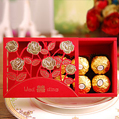 cheap Favor Holders-Creative Cuboid Card Paper Pearl Paper Favor Holder with Pattern Favor Boxes Gift Boxes - 50