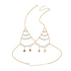 tanie Piercing-Damskie Biżuteria Łańcuch nadwozia / Belly Chain Stop Gold Silver Circle Shape Spersonalizowane Modny Biżuteria kostiumowa Na Bikini
