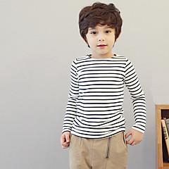 baratos Roupas de Meninos-Para Meninos Listras Estampado / Riscas Manga Longa Algodão Camiseta