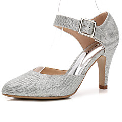 Women's Wedding Shoes Basic Pump Summer Fall Sparkling Glitter Synthetic Wedding Dress Party & Evening Buckle Gore Stiletto Heel Cone Heel