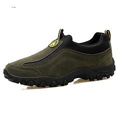 Tênis de Caminhada Sapatos de Montanhismo Homens Anti-Escorregar Á Prova-de-Chuva Esportes Relaxantes Cano Baixo Pele Látex Borracha