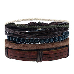 cheap -Men's Women's Leather Bracelet Fashion Leather Geometric Jewelry For Wedding Party