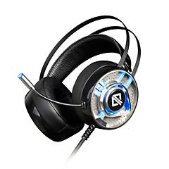 billiga Headsets och hörlurar-AJAZZ AX360 7.1 Headband Kabel Hörlurar Dynamisk Rostfritt stål / Plast Spel Hörlur Med volymkontroll / mikrofon headset