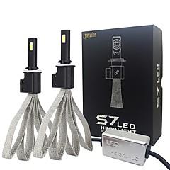 billige Frontlykter til bil-joyshine s7-880 881 60w 6400lm ledet headlight pærer konvertering kit fortinnet kobber flettet dc930v (2pcs)