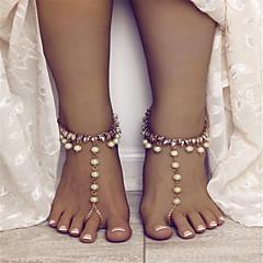 tanie Piercing-Imitacja pereł - Damskie Gold Silver Łańcuszek na kostkę Na Wyjściowe Ulica