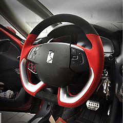 billige Rattovertrekk til bilen-Rattovertrekk til bilen 38 cm Svart / Brun / Svart / Rød Til Citroen DS6 / DS5LS Alle år