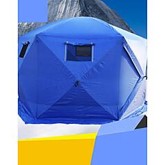 5-8 personer Telt Enkelt camping Tent Ett Rom Familietelt Vindtett Vanntett Glidelås til Camping & Fjellvandring 2000-3000 mm Polstret