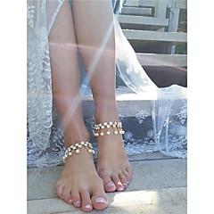 tanie Piercing-Syntetyczny diament Frędzel Łańcuszek na kostkę - Sztuczna perła, Imitacja diamentu Kropla Spersonalizowane, Moda Złoty / Srebrny Na Codzienny Casual Randka Damskie