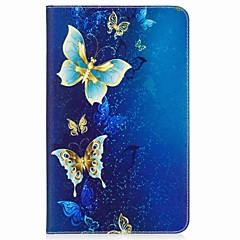 vlinderpatroon kaarthouder portemonnee met standaard flip magnetisch pu lederen hoesje voor Samsung Galaxy Tab een 10,1 t580n t585n 10,1