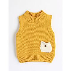 billige Overdele til drenge-Baby Drenge Ensfarvet Uden ærmer Bomuld Bluse
