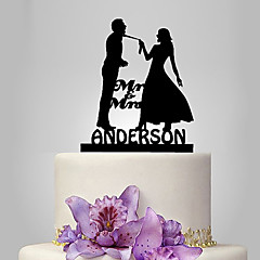 cheap Cake Toppers-Cake Topper Classic Theme Wedding Classic Couple Plastic Wedding with 1 Poly Bag