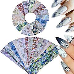 16 Nail Art Sticker  Glitter Pattern Accessories Traditional/Classic 3D Nail Stickers Parts Accessories 3-D Sticker DIY Supplies Makeup