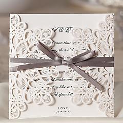 cheap Wedding Invitations-Wrap & Pocket Wedding Invitations 20-Invitation Cards Classic Style Embossed Paper