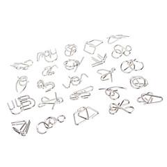 나인 시리얼 완구 솔루션 버클 중국어 퍼즐 반지 장난감 지식 래치 해제 남아 여아 24 조각