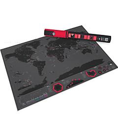 Rubbelkarte Scratch Off Karte der Welt für Reisende Spielzeuge Quadratisch Erwachsene 1 Stücke