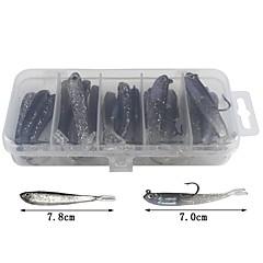 billiga Fiskbeten och flugor-20 st Lock förpackningar Plast Kastfiske Isfiske Spinnfiske Jiggfiske Andra Trolling & Båt Fiske Generellt fiske Abborr-fiske