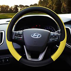 billige Rattovertrekk til bilen-Rattovertrekk til bilen Lær 38 cm Lilla / Gul / kaffe For Hyundai General motors Alle år