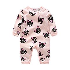 billige Babytøj-Baby Pige Tegneserie Dyr Langærmet Bomuld Overall og jumpsuit
