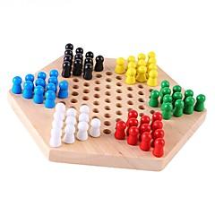 tanie Gra w szachy-Szachy Halma Zabawka edukacyjna Prostokątny DIY Drewniany Dla obu płci Prezent