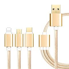 Χαμηλού Κόστους USB-USB 2.0 Καλώδιο, USB 2.0 to USB 2.0 Τύπος C Micro USB 2.0 Φωτισμός Καλώδιο Αρσενικό - Αρσενικό 1.2m (4 ft)