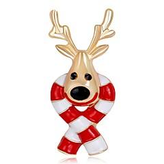 男性用 女性用 ブローチ ファッション クリスマス ローズゴールドめっき 合金 ジュエリー 用途 クリスマス 新年