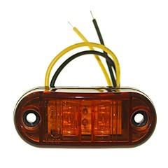 sencart 10pcs 2led geel led clearing side marker licht vrachtwagen auto aanhangwagens lamp 9-30v