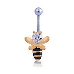 tanie Piercing-Damskie Biżuteria Pierścień pępka / piercing brzucha Kryształ górski Stop Yellow Geometric Shape Seksowny minimalistyczny styl Biżuteria