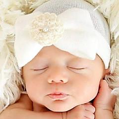 billige Babytøj-Børne Hår Tilbehør Alle årstider - Bomuld chambray - Hårbundt - Blå Hvid Lyserød Lyseblå