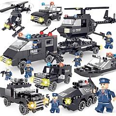 צעצועיערכת עשה זאת בעצמך אבני בניין רכב משטרה מסוק צעצועים רכבים פשוט עשה זאת בעצמך קלסי עיצוב חדש מבוגרים חתיכות