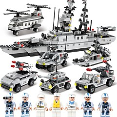 cheap Building Toys-SHIBIAO Building Blocks 1090pcs Classic Nautical / Military / Warship DIY Contemporary / Classic & Timeless / Chic & Modern Aircraft