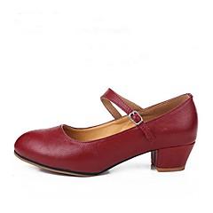 economico Shoes Trends-Per donna Scarpe per danza moderna Pelle Tacchi Tacco su misura Personalizzabile Scarpe da ballo Rosso
