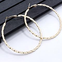 Damskie Kolczyki koła Geometryczny Klasyczny Stop Biżuteria Na Codzienny Casual