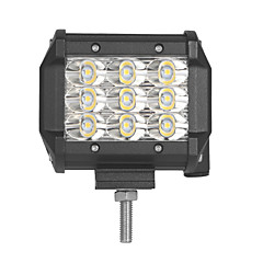 cheap -4PCS 27W 2700LM 6000K 3-Rows LED Work Light Cool White Spot Offroad Driving Light for Car/Boat/Headlight IP68 9-32V DC