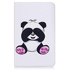 billige Nettbrettetuier-Etui Til Samsung Galaxy Heldekkende etui Tablet Cases Panda Hard PU Leather til Tab E 9.6