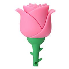 luova silikoni nopea vaaleanpunainen kukka 16gb usb 2.0 flash-asema u levy muistikortti