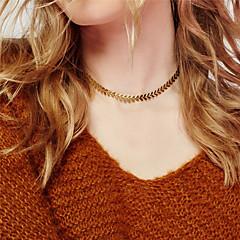 Dámské Obojkové náhrdelníky Šperky Leaf Shape Slitina Módní Přizpůsobeno Euramerican Zlatá Stříbrná Šperky ProPárty Zvláštní příležitosti