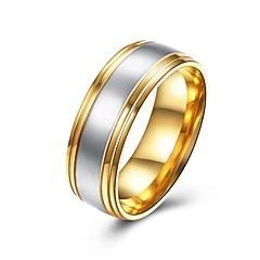 男性用 バンドリング ジュエリー ベーシック ファッション チタン鋼 円形 ジュエリー 用途 パーティー 婚約 日常 カジュアル