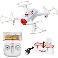 billige Fjernstyrte quadcoptere og multirotorer-RC Drone SYMA X22W 4 Kanal 6 Akse 2.4G Fjernstyrt quadkopter Fremover bakover En Tast For Retur Flyvning Med 360 Graders Flipp Fjernstyrt