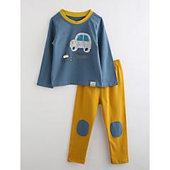 ieftine Lenjerie & Șosete Băieți-Băieți Pijamale Desene Animate Bumbac Toamnă Manșon Lung Albastru piscină