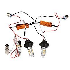2pcs 1156 bau15s 42 smd ledet enkeltlys dagtimerslys lightturn signal drl bremsepærer dc12v