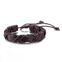 Pánské Dámské Kožené náramky Round Shape Šperky Šperky Pro Denní Ležérní Podium Street
